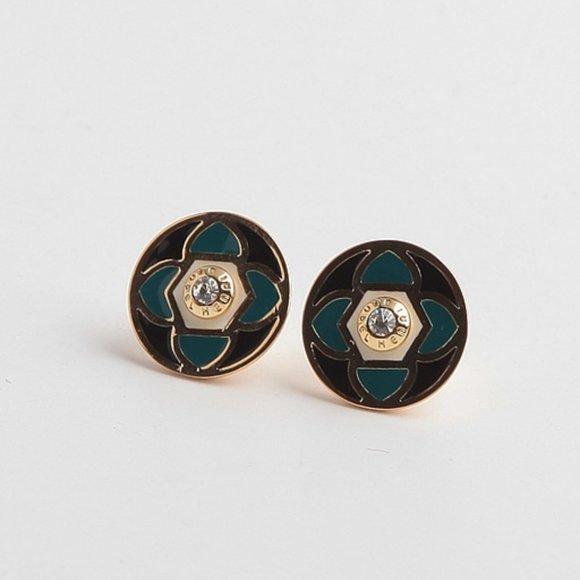 henri bendel Jewelry - Henri Bendel Enamel Four-leaf Clover Earrings